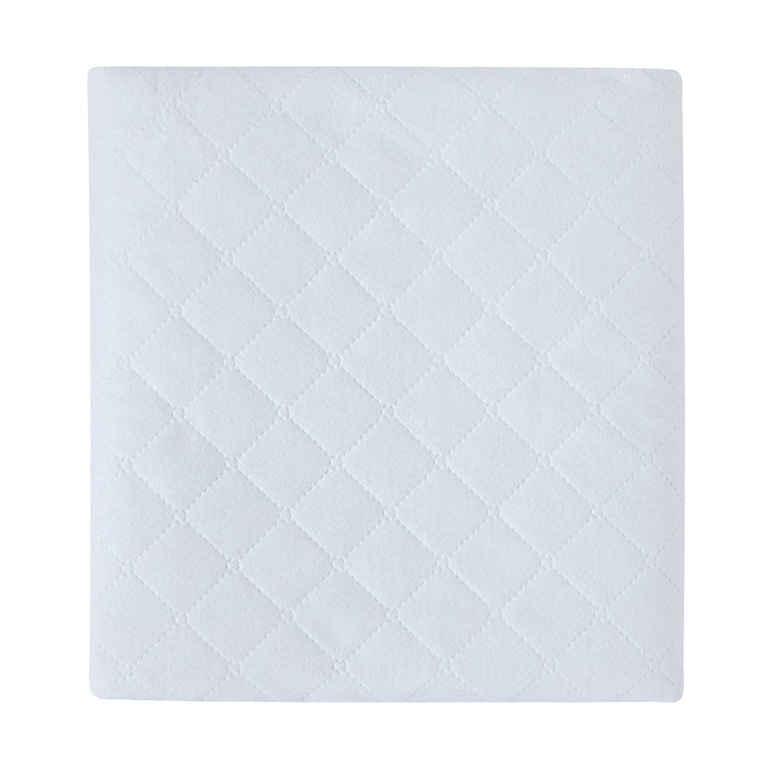 Carter's Keep Me Dry Waterproof Fitted Quilted Crib Pad, White (Discontinued by Manufacturer) Kids Line C3FQPD