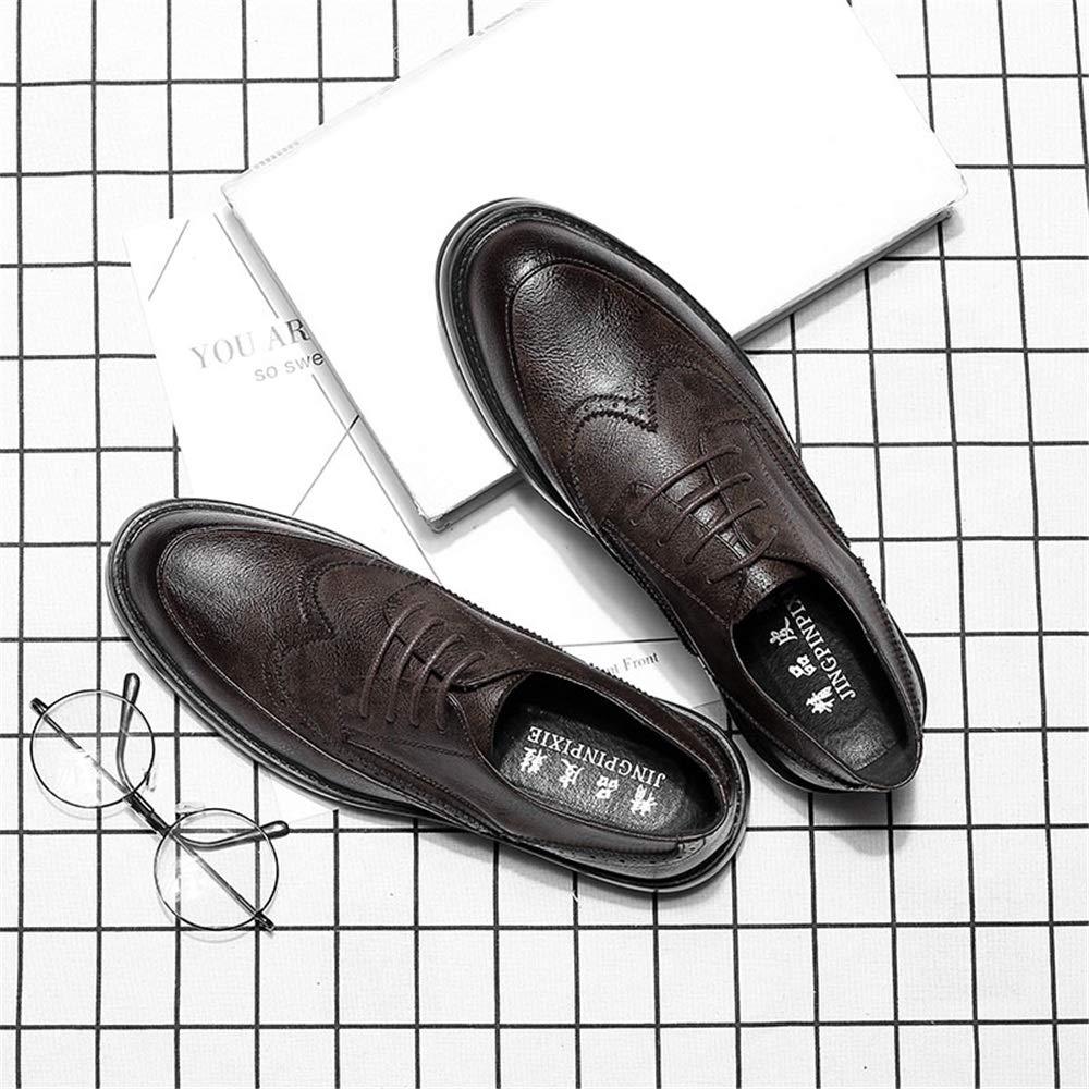JIALUN-Schuhe Herren Einfache Mode Oxford Casual Klassische Klassische Klassische Schnitzereien Atmen Bequeme Laufsohle Brogue Schuhe (Lackleder Optional) (Farbe   Grau, Größe   44 EU) 4d2c9c