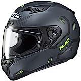 HJC Helmets Unisex-Adult Full Face i10 Helmet (Black, XS)