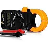 Alicate Amperímetro Digital Multímetro Profissional Medidor de Corrente Ac + Dc Tensão 200M~600V Teste Bipe Sem Contato