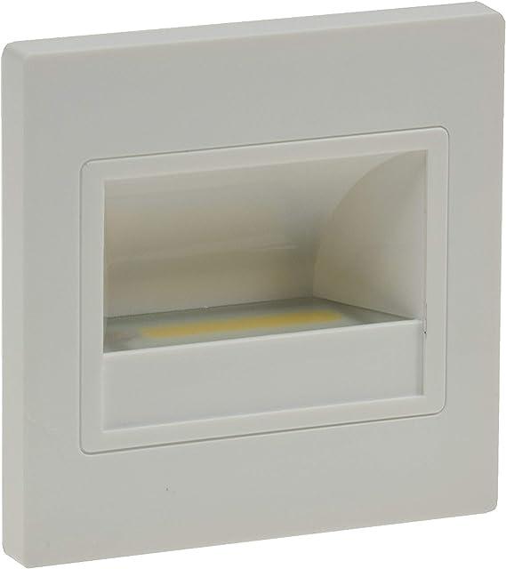 Lámparas LED empotrables para pared cuadrado blanco, LED COB de 1,5 W blanco frío de 94 x 94 mm 230 V IP40, para luz de escaleras, niveles de, montaje empotrado: Amazon.es: Electrónica