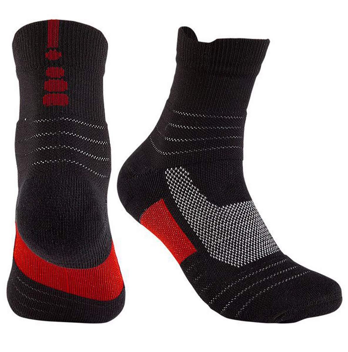 Calzini da Basket Calzini da Corsa allaperto Fondo Asciugamano Tubo Lungo Calzini Sportivi da Uomo SHENHAI Calze