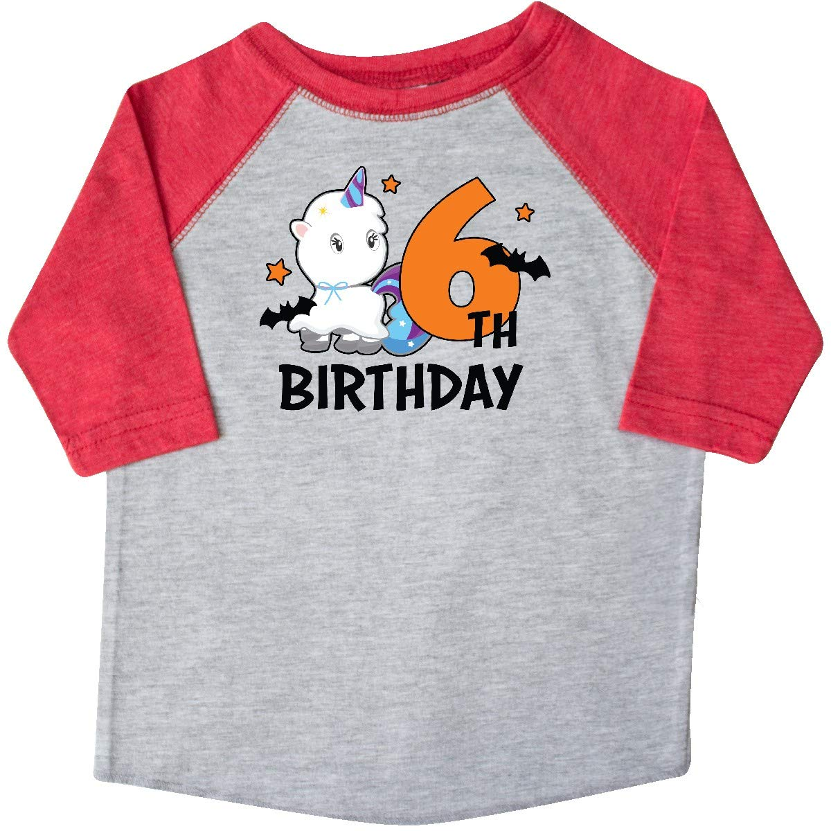 inktastic 6th Birthday with Unicorn Ghost and Bats Toddler T-Shirt