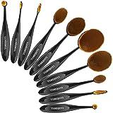 Luxebell® - Set da 12 pennelli professionali per make-up, tra cui pennello per ombretto, pennello per fard, pennello per correttore, pennello per labbra, pennello per sopracciglia