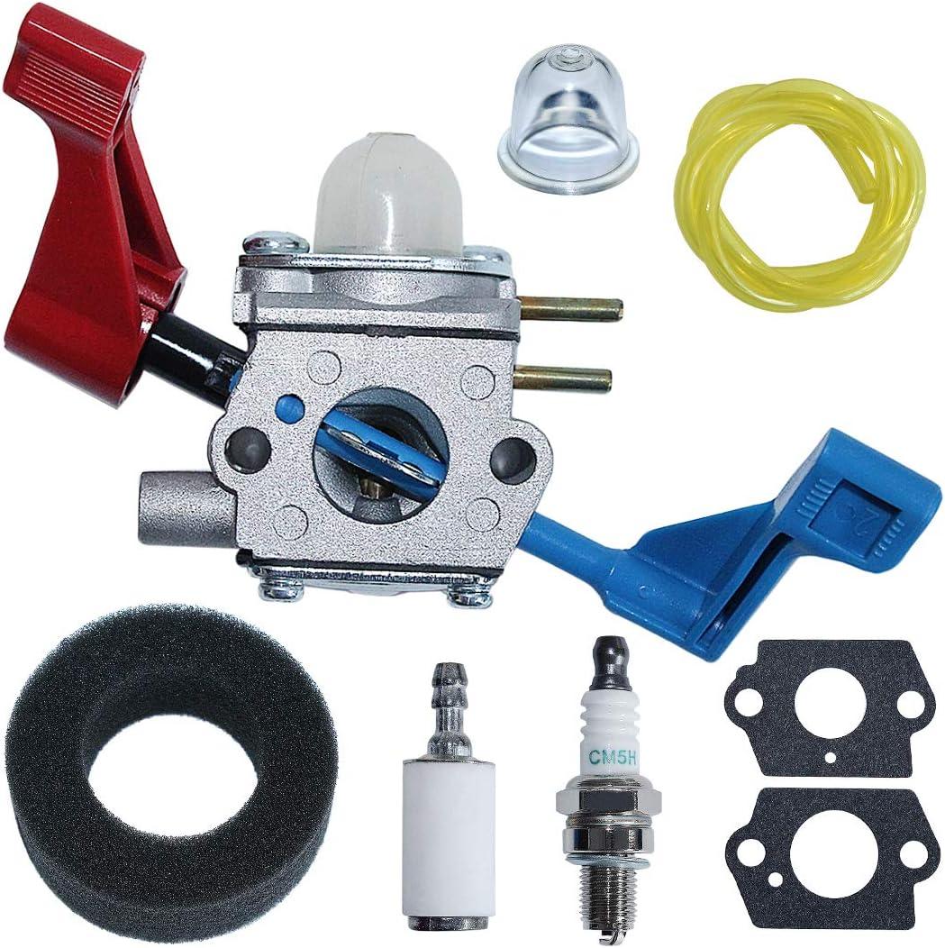 Carburetor Kit Air Filter for Poulan FL1500 FL1500LE Zama C1U-W12B C1U-W12A