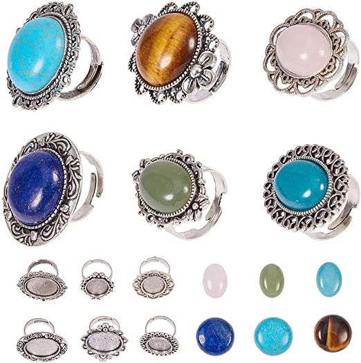 12PCS Silver 18x13mm Oval Cabochon Setting Franch Earrings Jewelry Findings