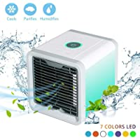 Mini Portable Personal Space Air Cooler,Humidifier,Purifier 3 in 1 USB Air Conditioner