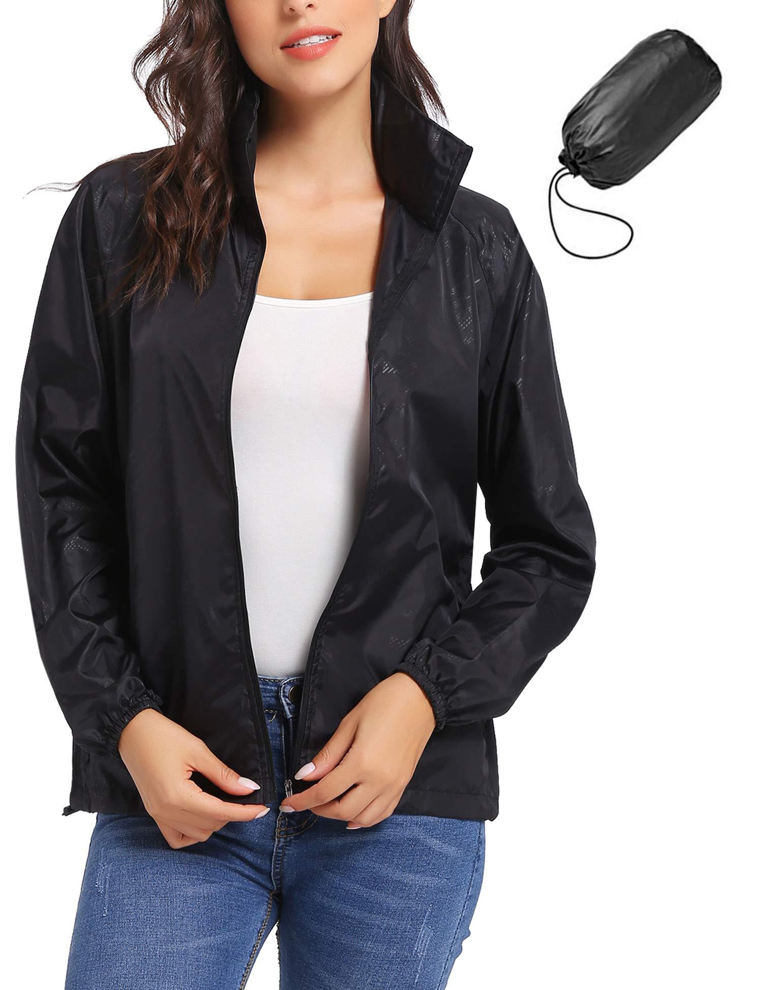 iClosam Women Lightweight UV Protect Windbreaker Jacket Active Outdoor Packable Thin Coat