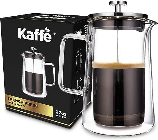 Cafetera de prensa francesa KF1010 de Kaffe. Vidrio de ...