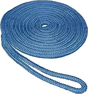 "Marpac Premier 3//8/"" x 15/' Double Braid Nylon Dock Line Boat Mooring Line Blue"