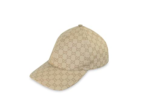 gucci baseball cap size ebay sale uk coated cotton web stripe beige