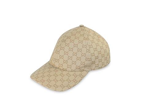 gucci baseball cap size ebay sale uk coated cotton web stripe beige