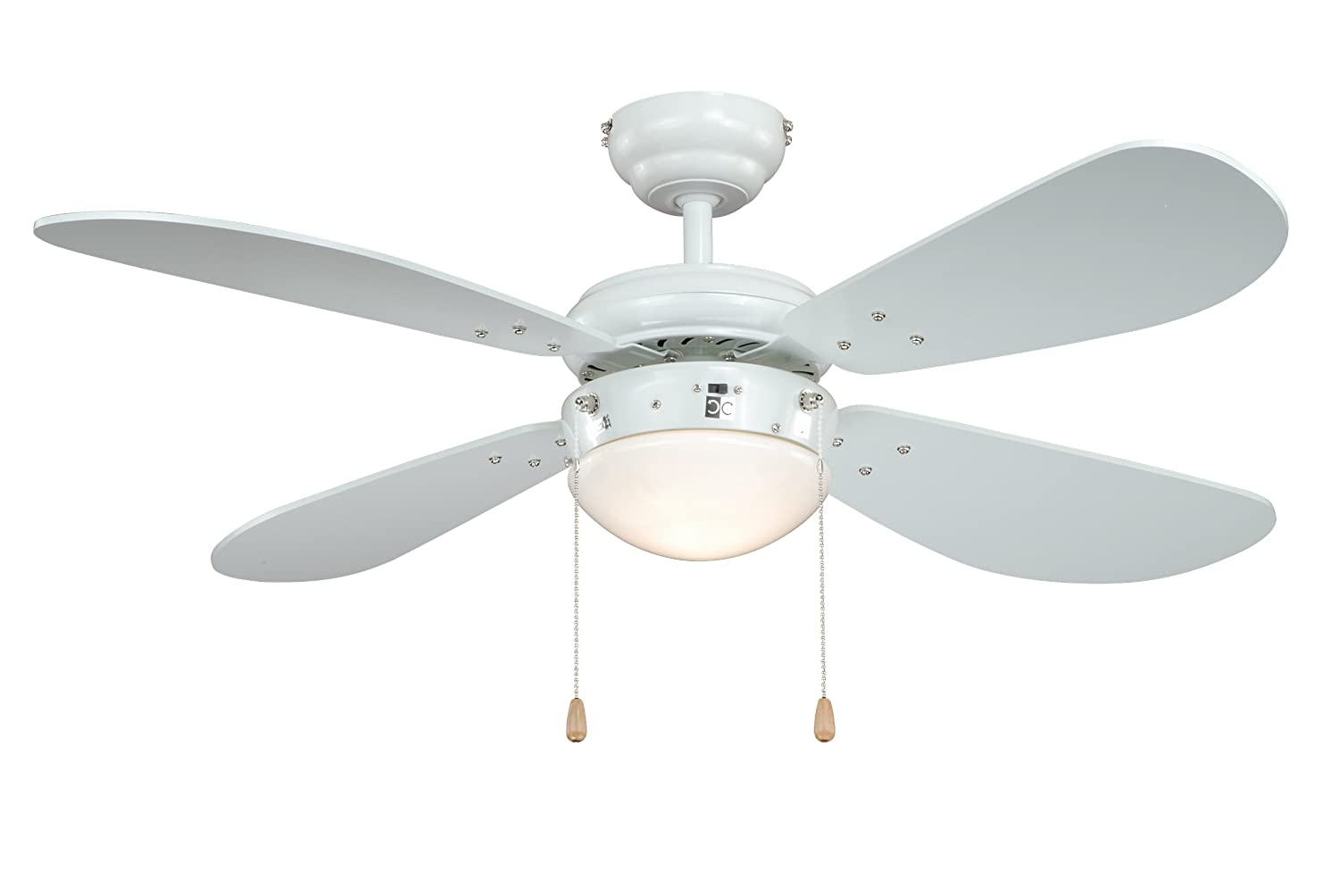 "AireRyder Ceiling Fan Classic White with Light Fitting 42"" 105cm with Pull Cords FN43311"