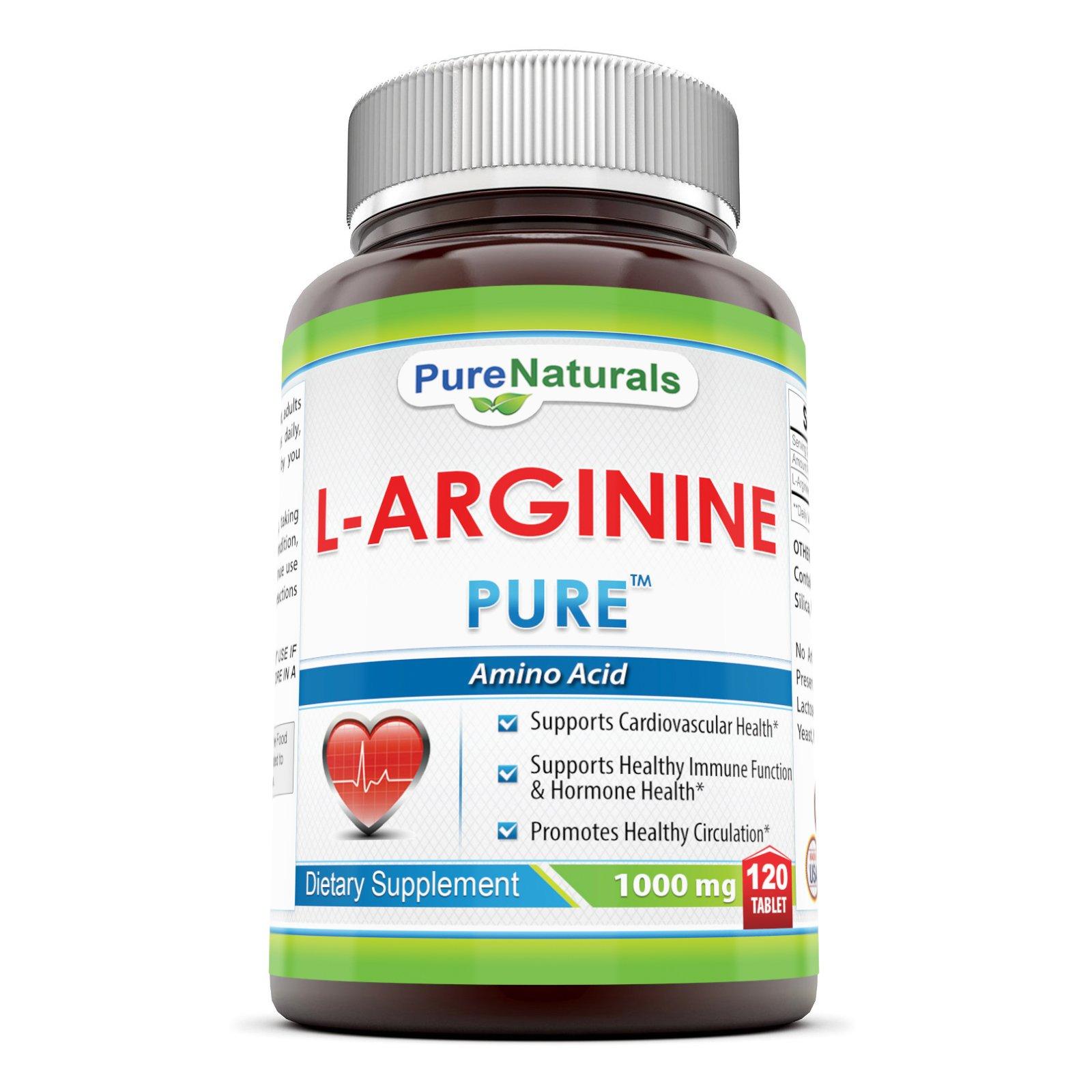 Pure Naturals L-Arginine 1000 Mg, 120 Count