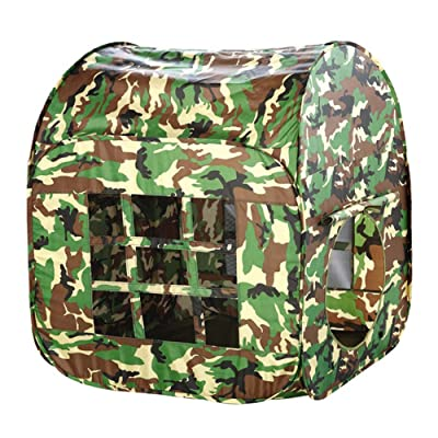 Childrens Play Tent Game House Camouflage Army Green Boy Castle Indoor Outdoor Foldable Play Kids Gaming Toys: Home Improvement