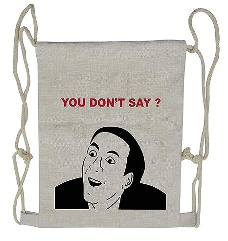 216a8bd7d708 Amazon.com | Ambesonne Humor Drawstring Backpack, Meme Smile Modern ...