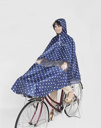 50899 自転車 サイクルポンチョ ブルードット 雨具