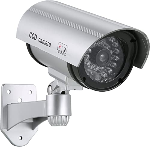SANNCE CCTV Fake Surveillance Dummy Security Camera System with Flashing Red Light for Home Business Use