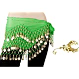 BELLYLADY 158 Gold Coins Belly Dance Hip Scarf Vogue Style, Gift idea
