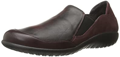 NAOT Women's Moana Flat, Shiraz Leather/Volcanic Red Leather/Violet Nubuck,  35