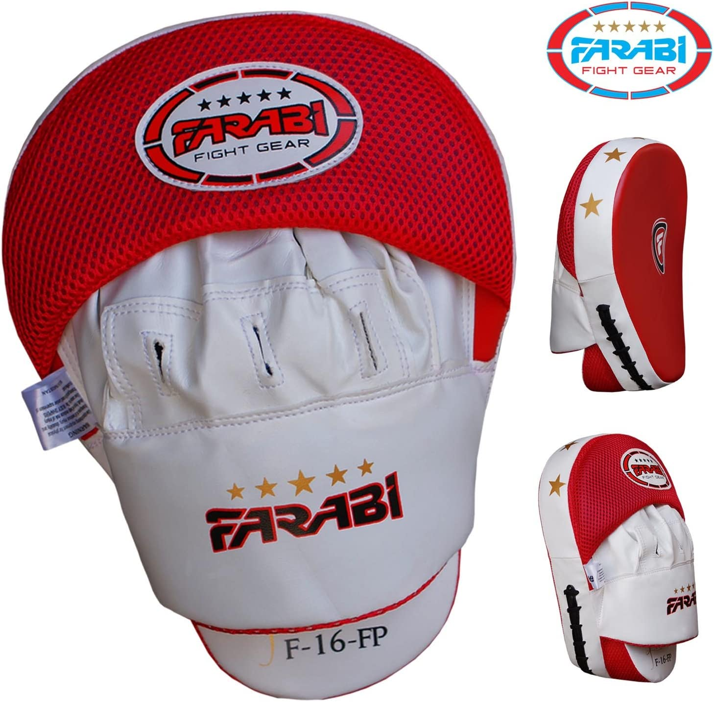 Farabi Curved Focus Pads Hook /& Jab Mitts Boxing Training Pads