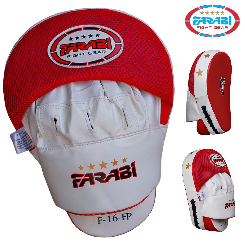 Boxe per addestramento Hook /& Jab muffole Farabi Focus Pads Resistente Pelle Sintetica Curvo