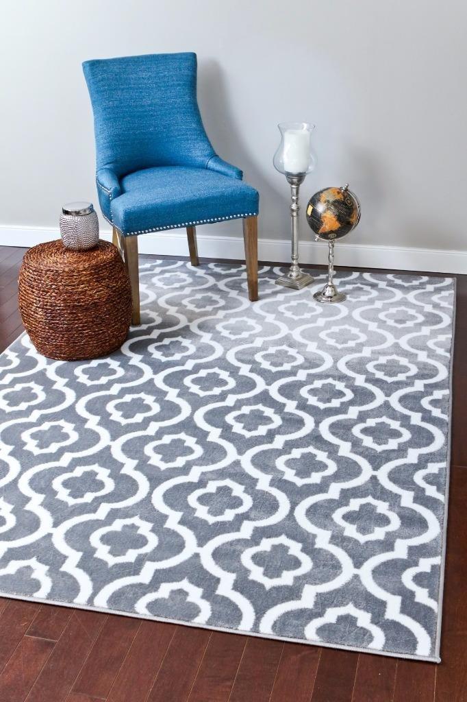 Great Amazon.com: Persian Rugs Moroccan Trellis Area Rug Carpet, 5 X 7 Feet,  Gray: Kitchen U0026 Dining
