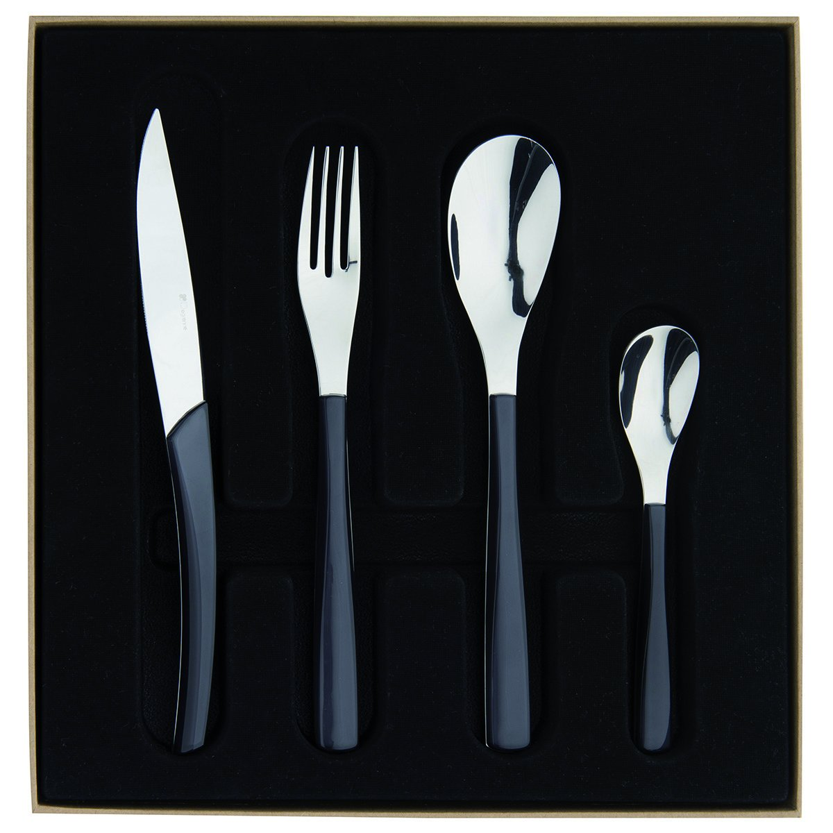 Degrenne 205887 Quartz Flatware Set, Grey