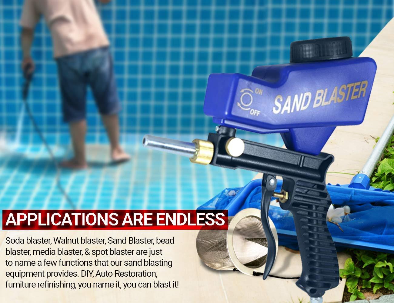 Soda Blaster, Sand Blaster Gun, Professional Sandblasting Gun, Portable Sand Blaster, Media Blaster Gun, Baking Soda Blasting Equipment.