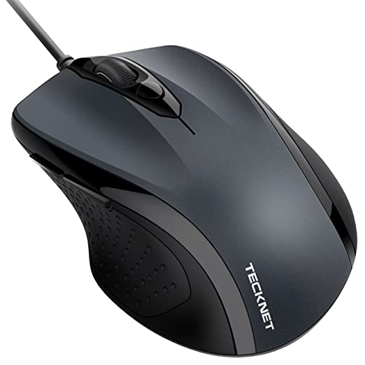 2130 opinioni per TeckNet Pro S2 Mouse USB con cavo, 6 Pulsanti, 2000DPI, Disegno Ergonomico, per