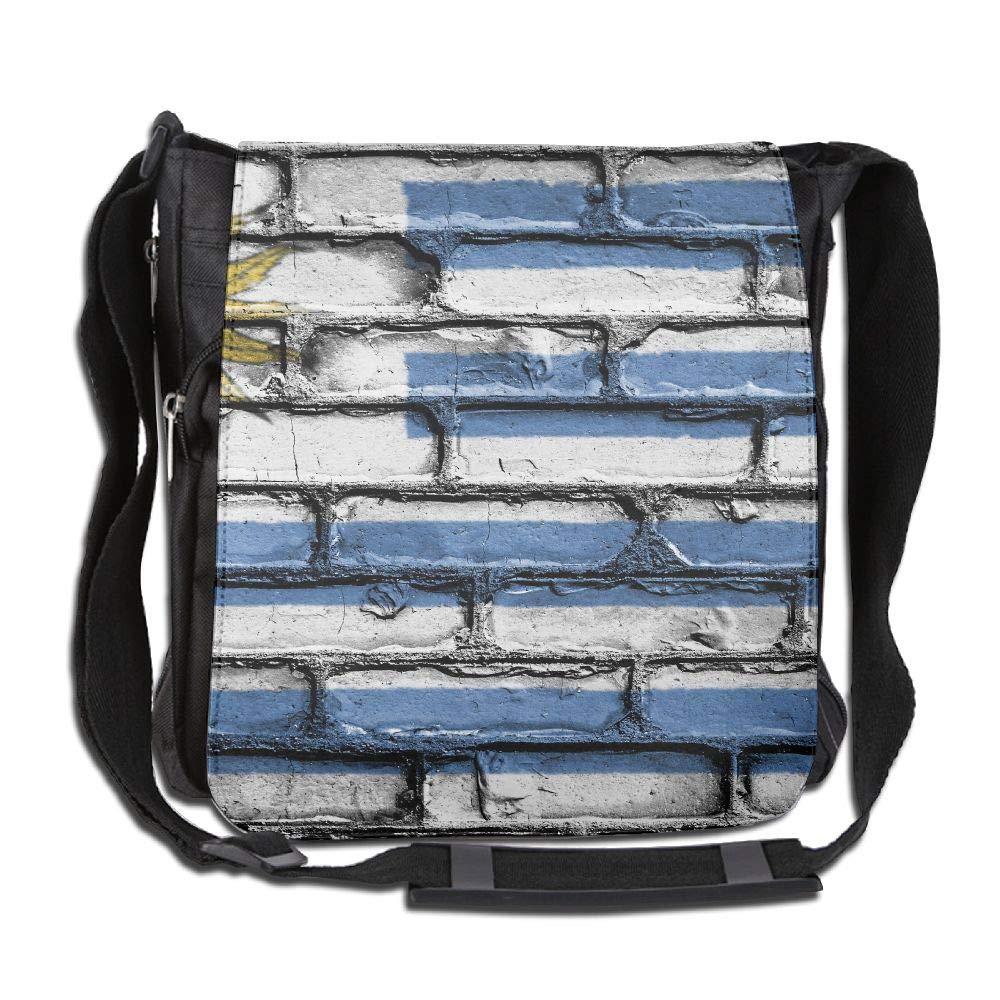 SARA NELL Messenger Bag,Uruguay Flag Wall Art,Unisex Shoulder Backpack Cross-body Sling Bag