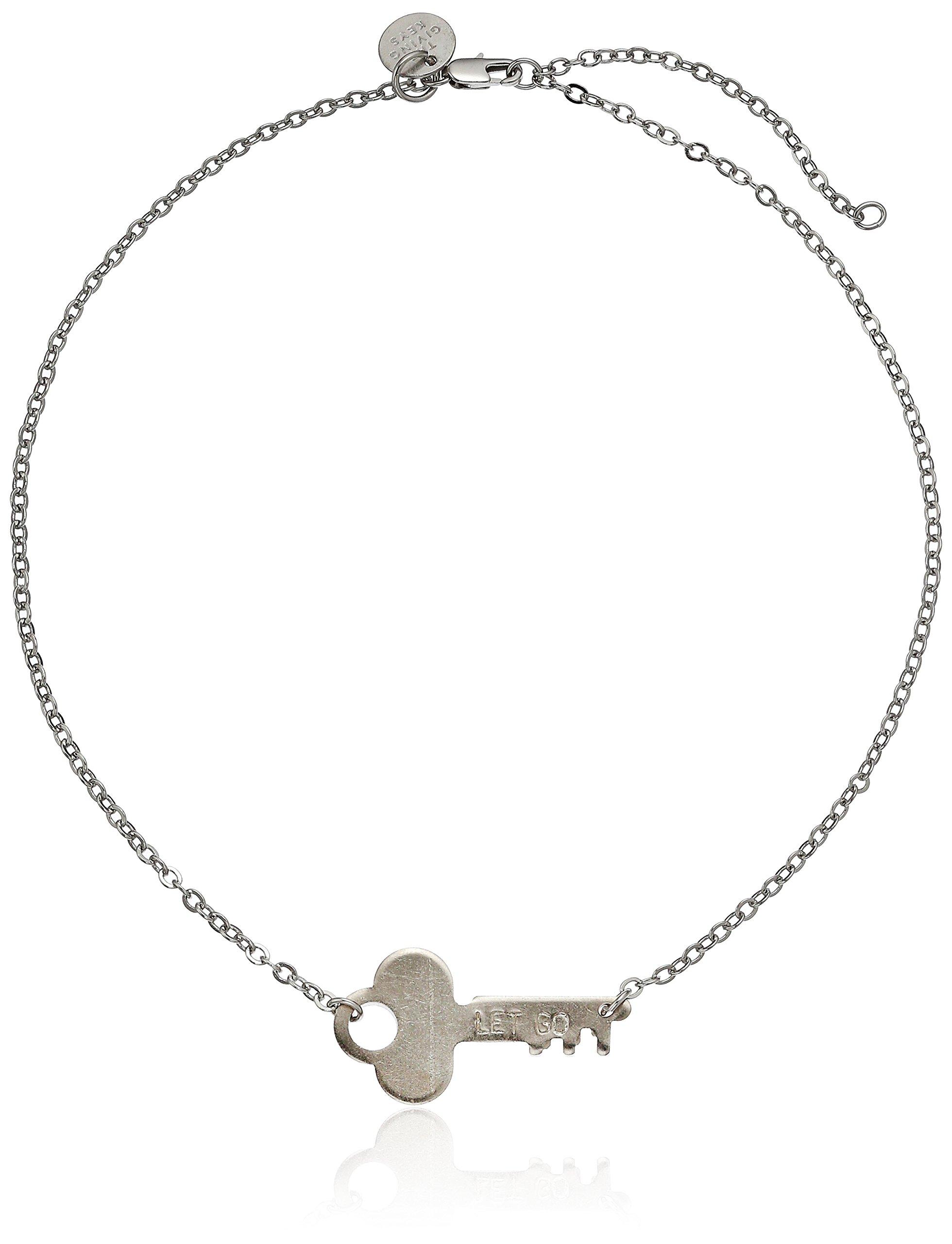 The Giving Keys Neverending Silver Choker Necklace LET GO