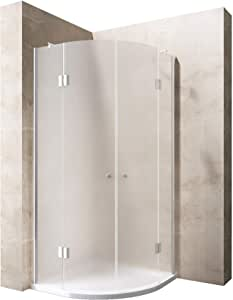 80 x 80 x 196 cm Diseño Mampara de ducha ravenna02s, incluye plato de ducha en Blanco, 8 mm de cristal de seguridad de vidrio satinado, incluye Nano revestimiento de: Amazon.es: Bricolaje y herramientas