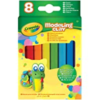Crayola 57-0312 Modeling Clay, Classic Assorted, 8 Count 4.8 Ounce Pack