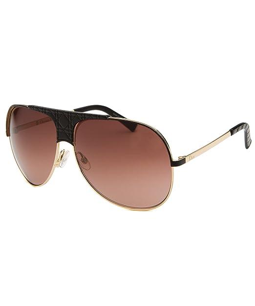 09dadbb4e1ad Dior Sunglasses My Lady Dior 8 VN0 D8 Black  Gold Brown Gradient   Amazon.ca  Clothing   Accessories