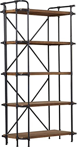 Trent Austin Design 67 Etagere Antique Bookcase with 5 Shelves Industrial and Modern Bookcase