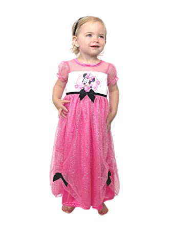 Minnie Mouse Girls Fantasy Gown Nightgown (2T Pink/Multi)  sc 1 st  Amazon.com & Amazon.com: Disney Little Girlsu0027 Minnie Mouse Costume Sleep Gown ...