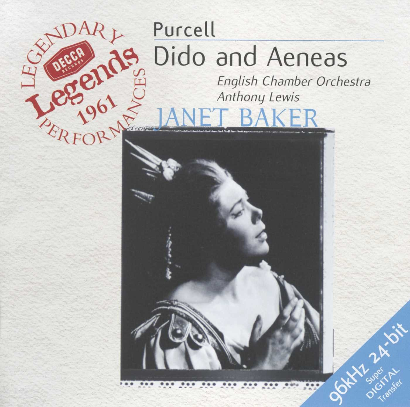 Cover Art for CD of Dido and Aeneas
