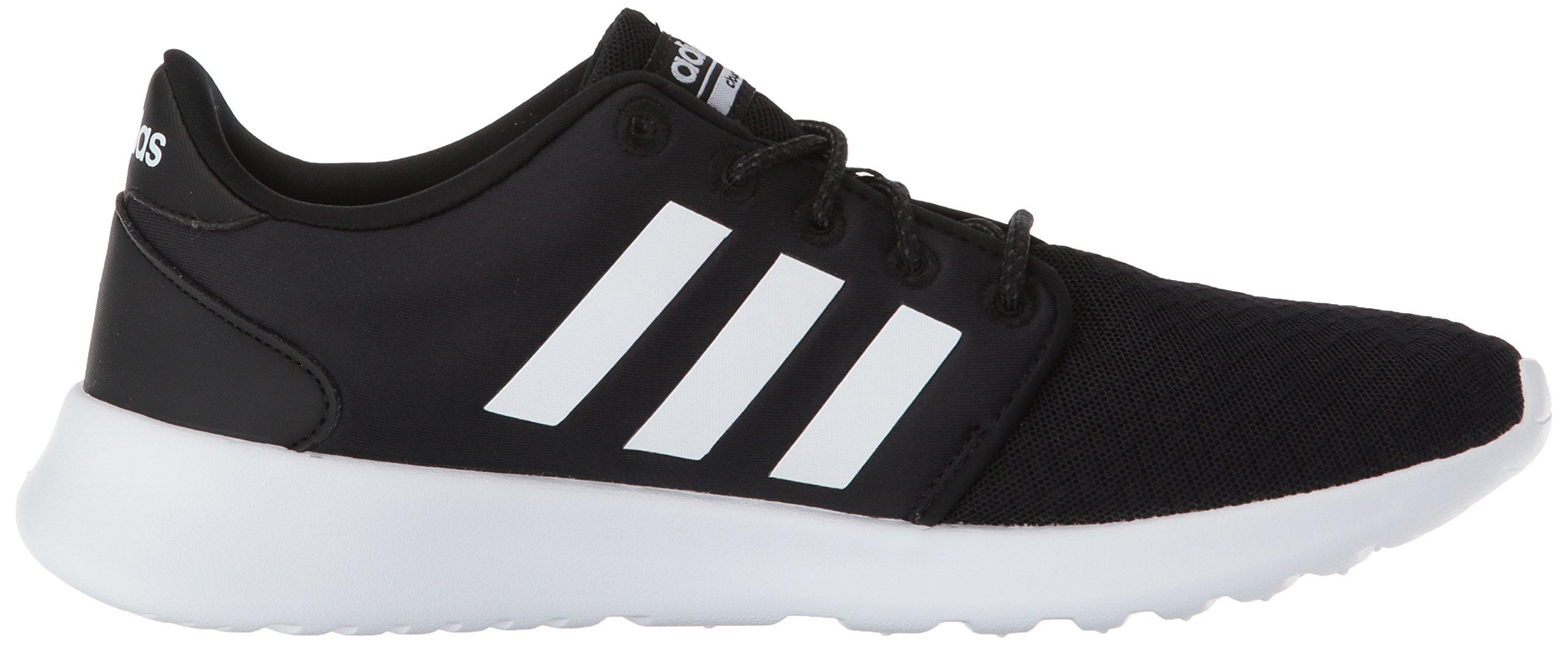 adidas Women's Cloudfoam QT Racer Running Shoe, Black/White/Carbon, 5 M US by adidas (Image #7)
