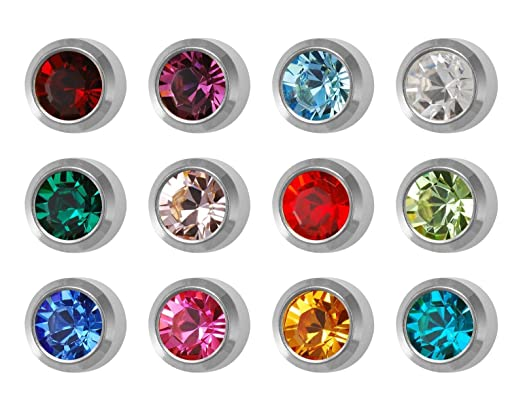 12 Pairs Studex Ear Piercing Regular Silver Coloured Stainless Steel Stud Earrings Traditional Plain 4mm Ball C0tyyH