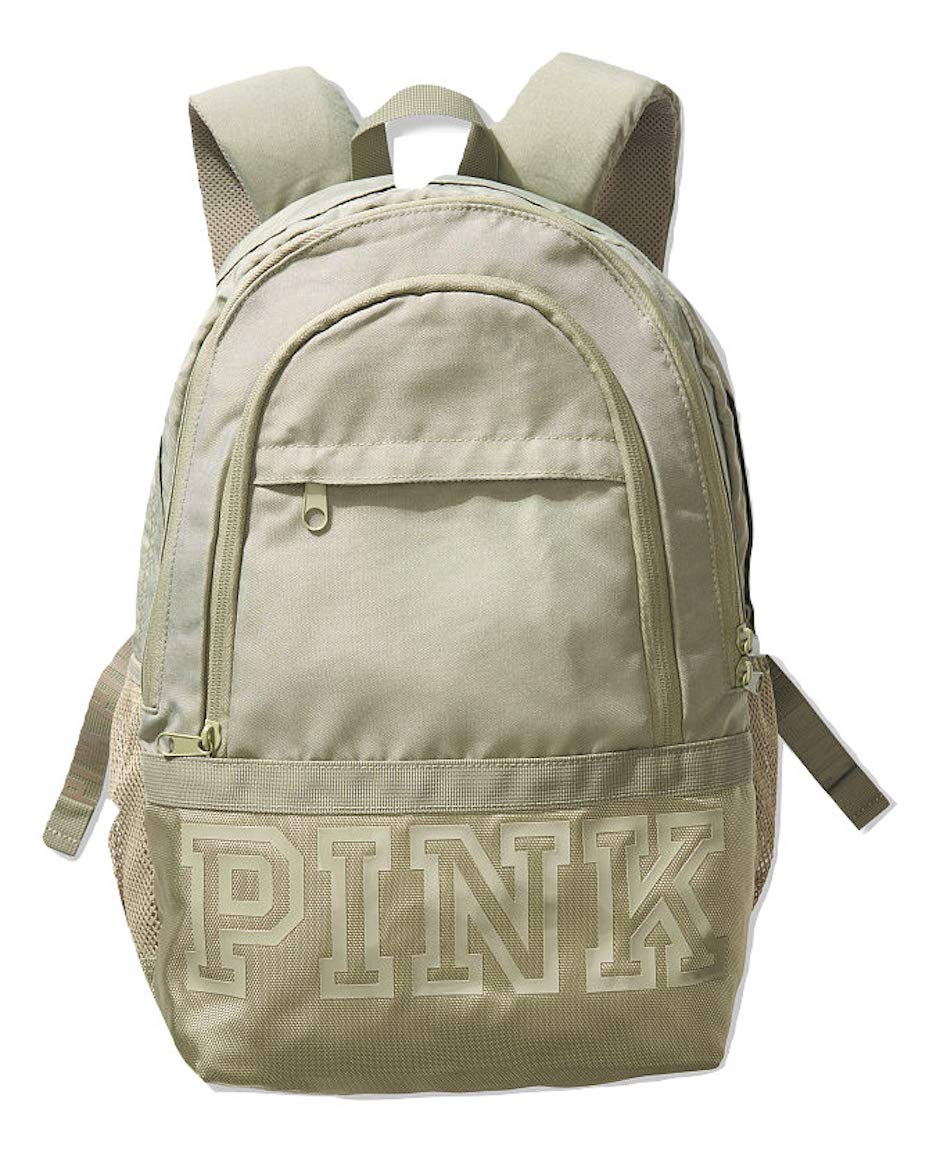 Victoria's Secret Pink Collegiate Backpack Green School Bag NWT by Victoria's Secret