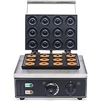 DAIYUDEYZ Commerciële Donut Maker Machine, 110V-220V 1500W 12 Hole Non-stick Donut Baker Machine voor Keuken Ontbijt…