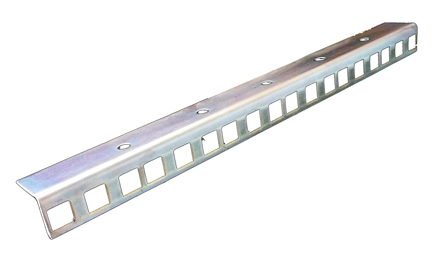 All Metal Parts 12U rack strips Zinc plated 24.2 x 19.2mm sold in pairs