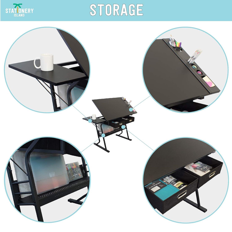 Stationery Island TIREE Mesa de Dibujo para Arte y Diseño – Mesa ...