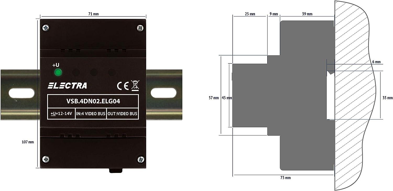 Video Selektorbox ELECTRA VSB.4DN02.ELG04 Touch Line