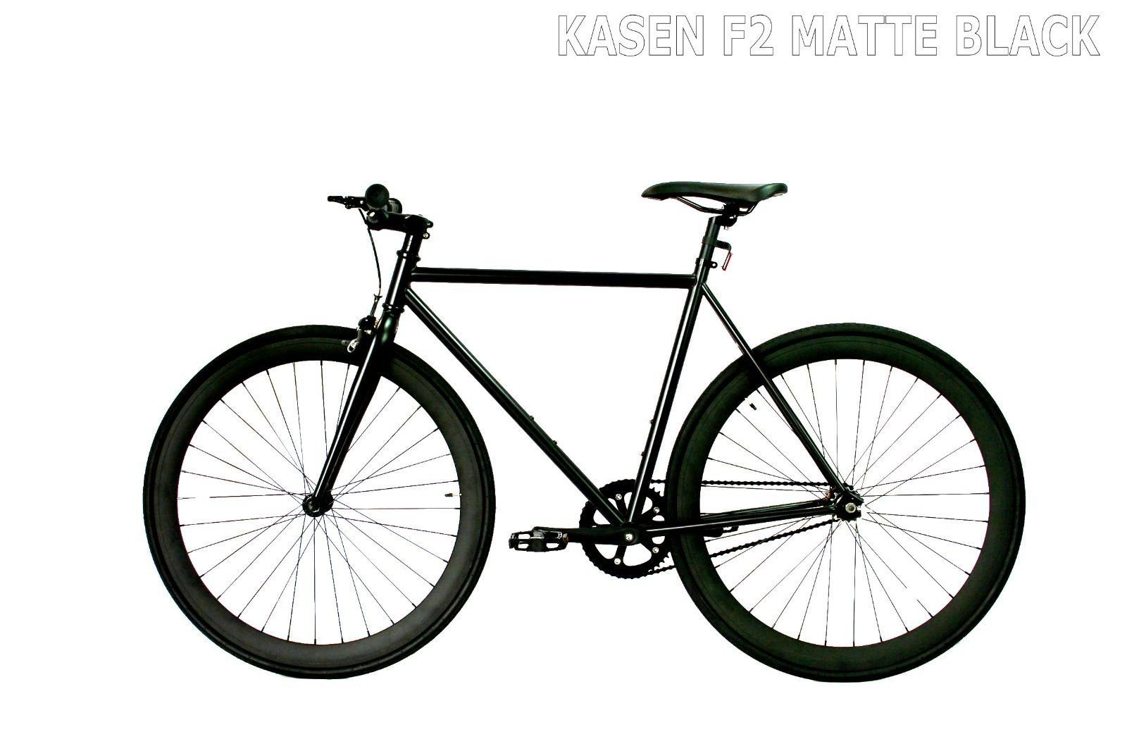 carci Fixed Gear Bike Bicycle F2 Steel Black bicycle men women fixie city bike