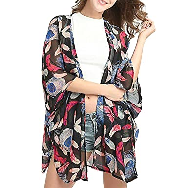 Glorious Womens Cover Up Beach Chiffon Summer Beachwear Swimwear Outwear Fashion Cardigan Women's Clothing