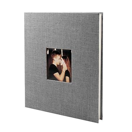VEESUN Álbum de Fotos, 40 Páginas Blancas (20 Hojas) para Pegar Fotos, Album de Pareja con Compartimento para Insertar Foto, 28 x 27 cm, Boda, Regalos ...