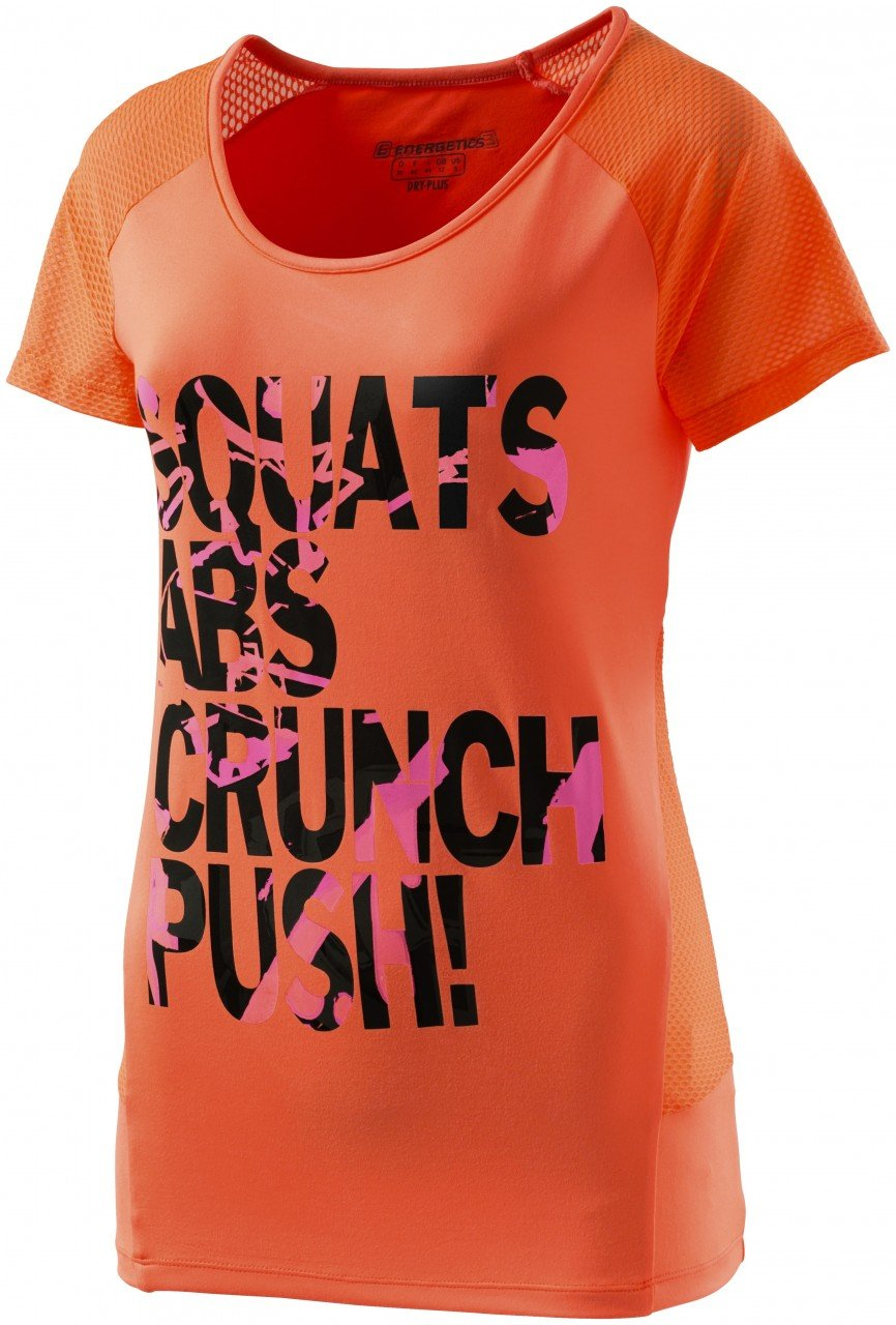 Energetics Zendra Damen Sportshirt Fitnessshirt Shirt orange/pink