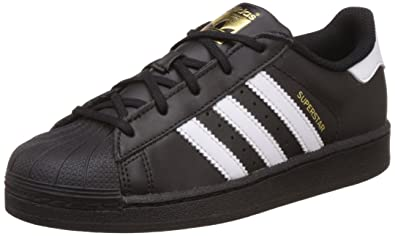 adidas Unisex-Kinder Superstar Foundation Sneaker Schwarz
